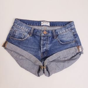 One Teaspoon Bandits Jean Denim Shorts, Sz 27